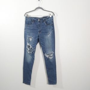 American Eagle High Rise Stretch Distressed Jeans